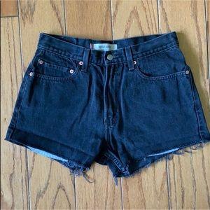 Levi's black high waisted shorts
